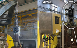 Before and After shot of the steam turbine governor control system