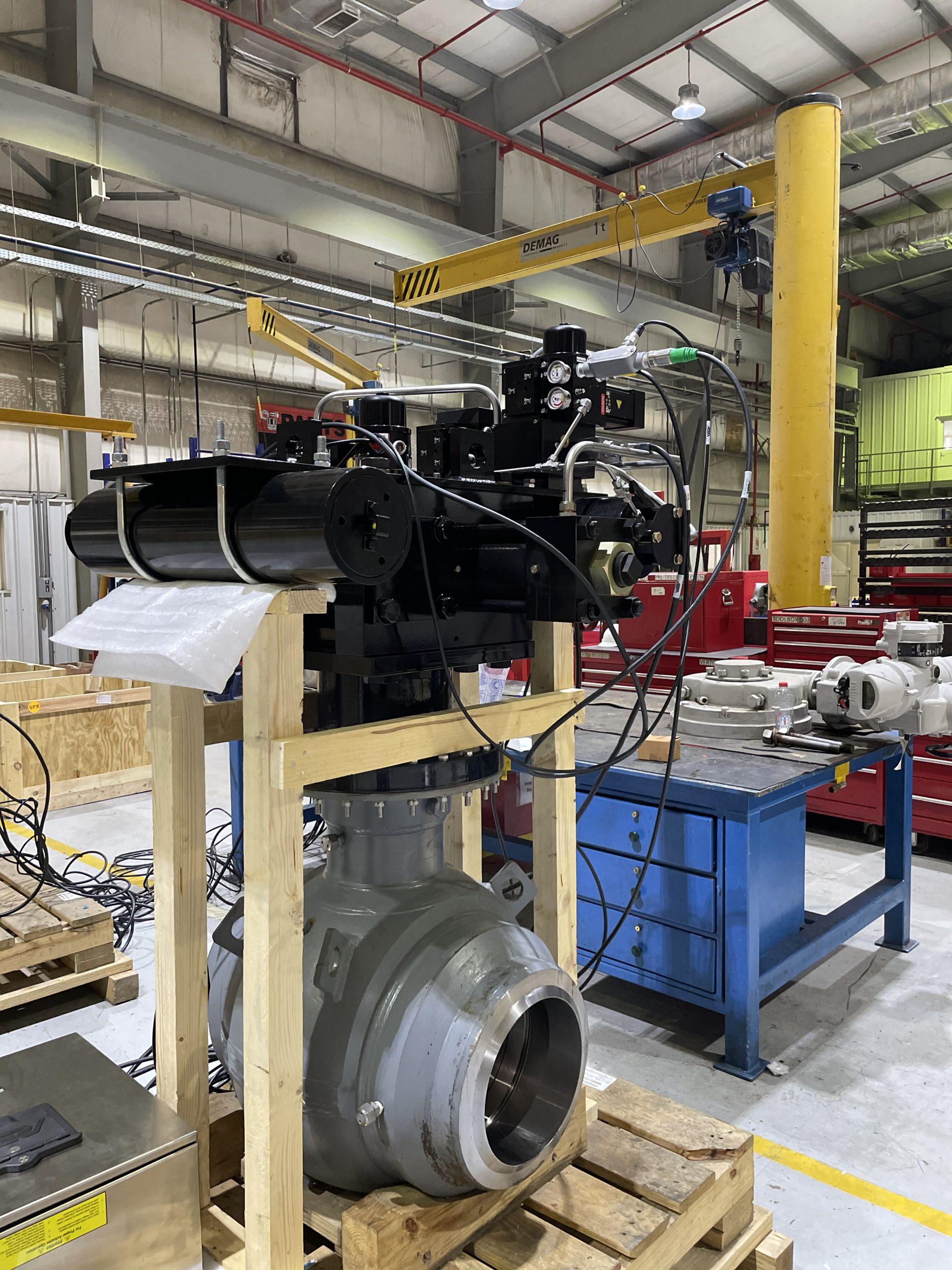 REXA retrofit on 16in ball valve for ESD